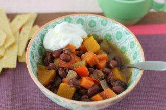 Slow Cooker Black Bean Soup with Citrus