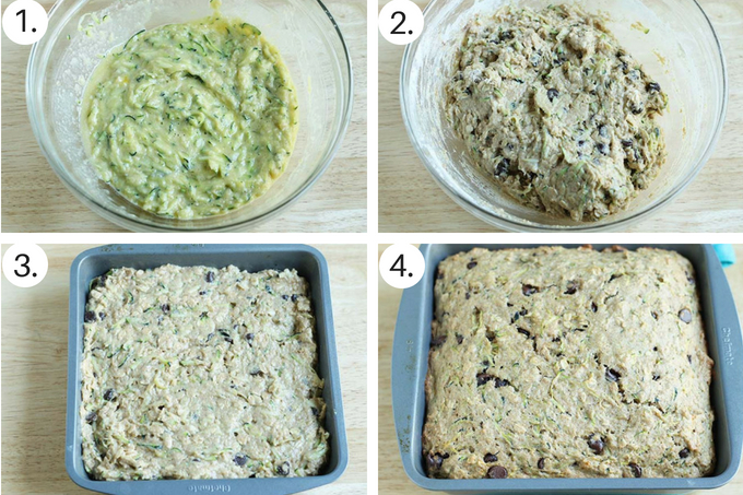 choco chip zucchini bread Step by Step