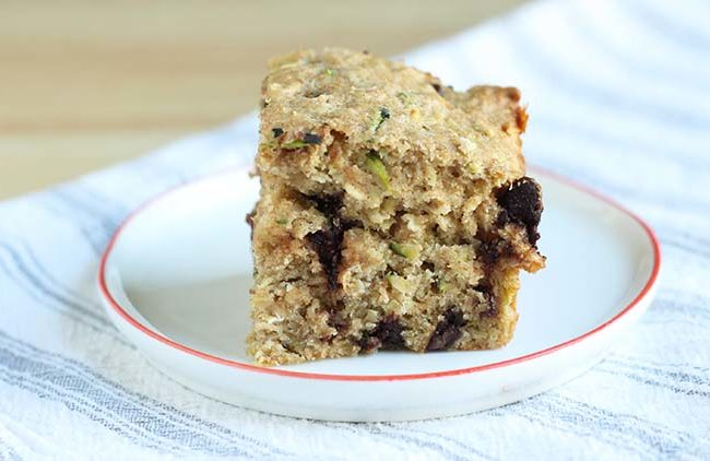 healthy chocolate chip zucchini bread