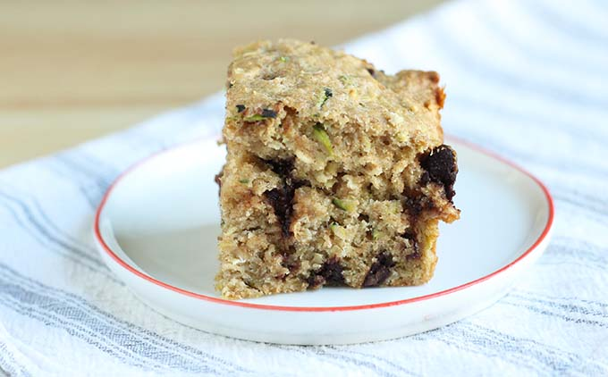 healthy chocolate chip zucchini bread