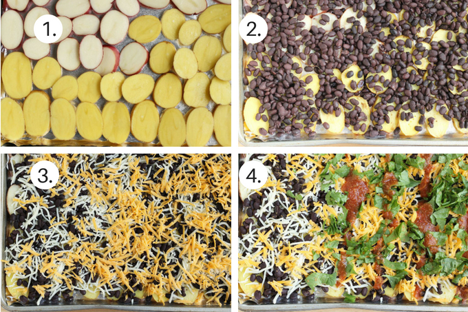 how to make baked nachos step by step