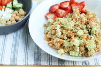 Mediterranean Quinoa Salad with Feta and Beans
