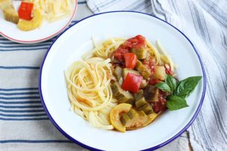 Easy Ratatouille with Pasta