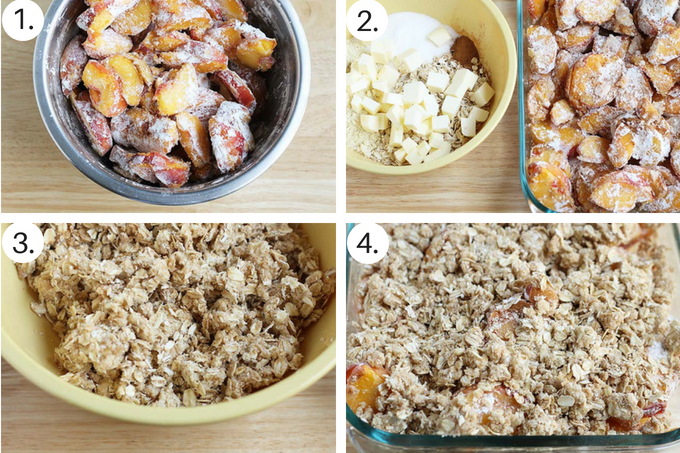 how to make peach crisp step by step process