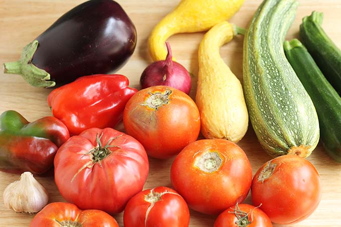 ingredients for easy ratatouille recipe