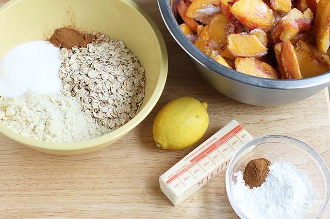 ingredients in peach crisp