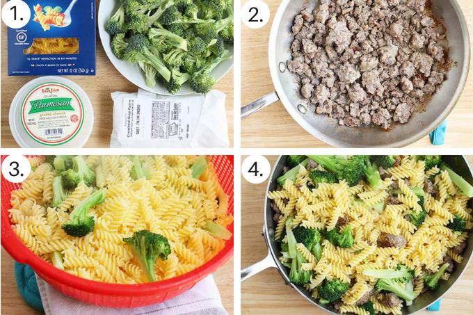 sausage pasta Step by Step