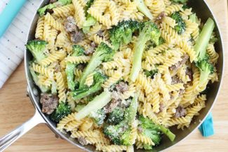 4-Ingredient Sausage Pasta with Broccoli