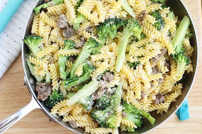 skillet sausage pasta