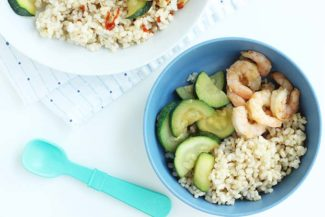 Quick Teriyaki Shrimp with Zucchini and Rice