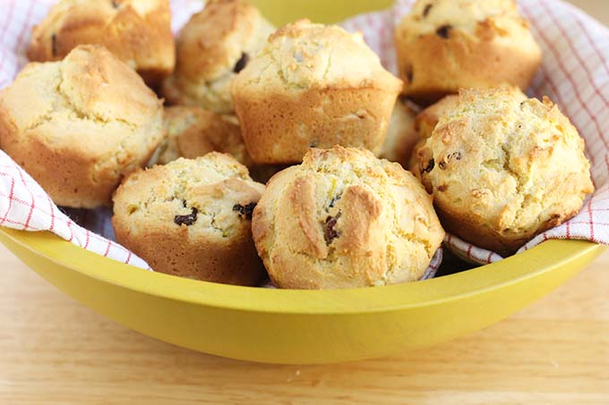 healthy corn muffin recipe in bowl