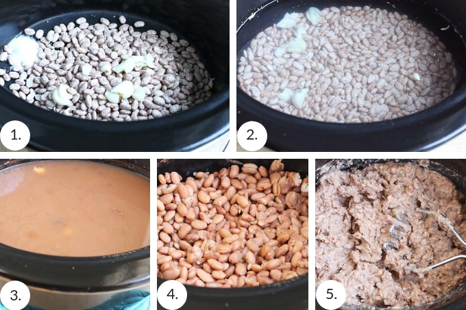 how to make homemade refried beans step by step