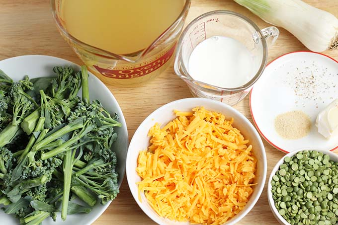 ingredients in broccoli cheese soup