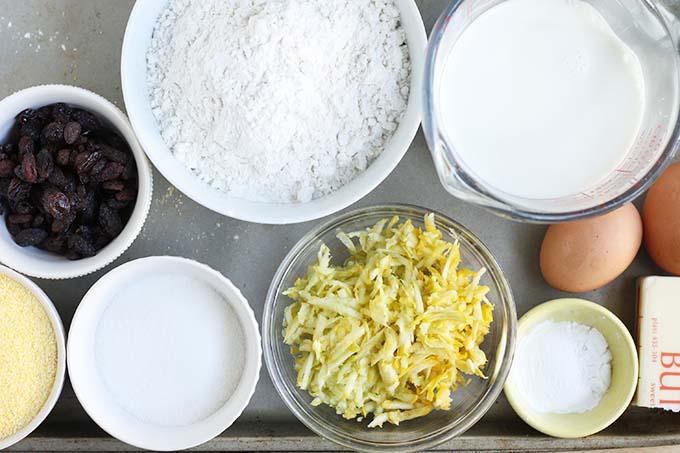 ingredients in corn muffin recipe