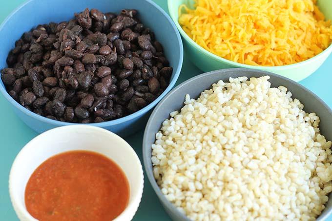 vegetarian burrito ingredients