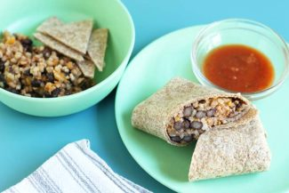 Vegetarian Burritos with Rice and Beans (5 Ingredients!)