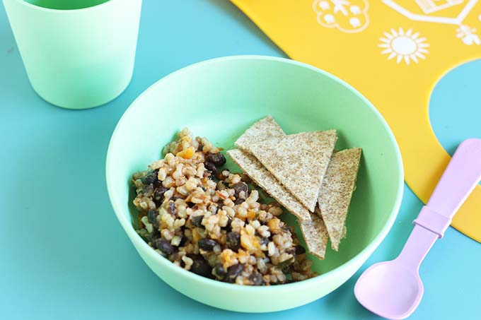rice and beans burrito for toddler