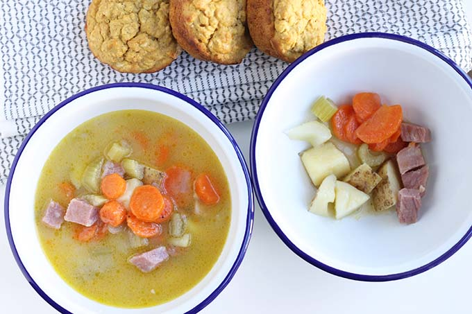 kid friendly potato ham soup