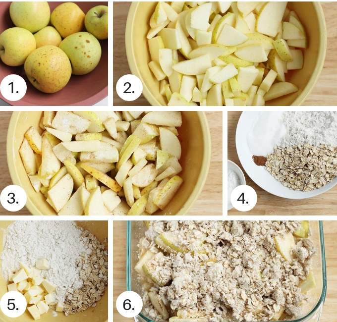 how to make gluten free apple crisp step by step