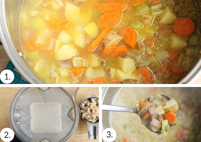 how to make potato ham soup step by step process