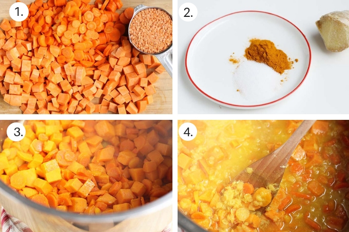 how to make red lentil soup step by step