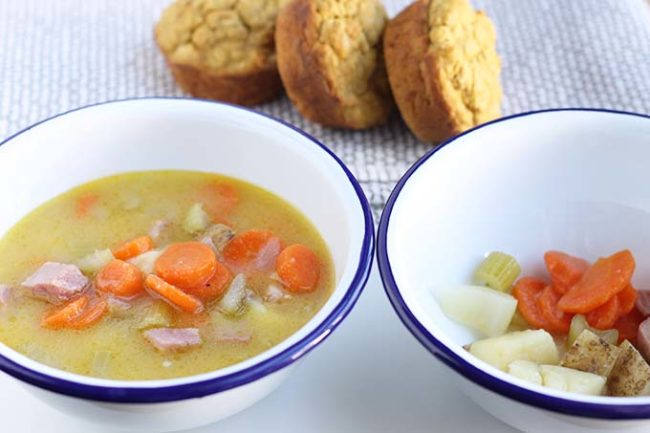 potato ham soup