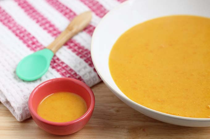 red lentil soup for baby and parents