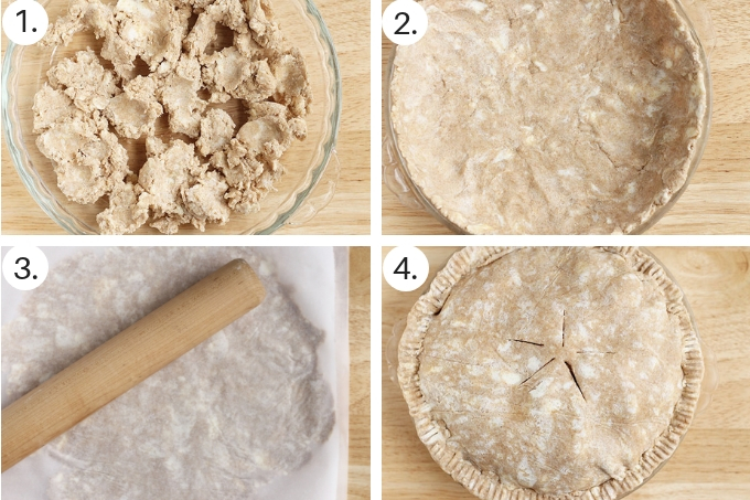 how to assemble whole wheat pie crust step by step