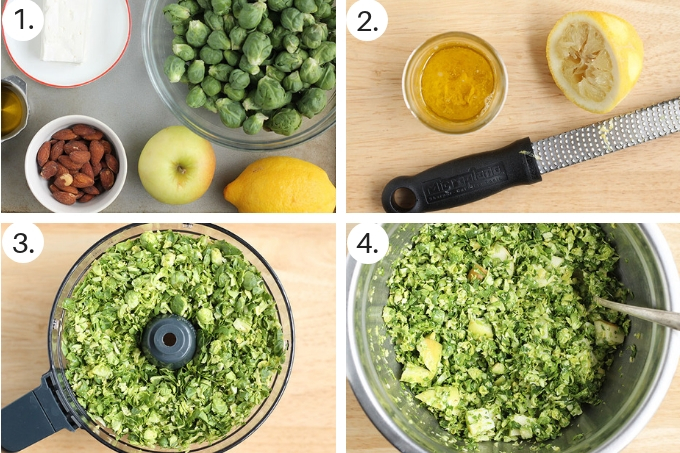 how to make brussels sprouts salad step by step