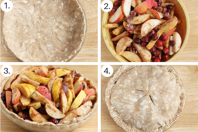 how to make cranberry apple pie step by step