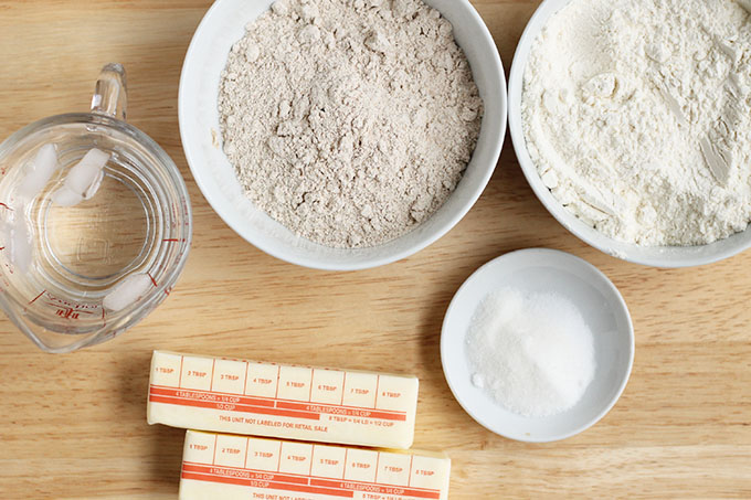 ingredients in whole wheat pie crust