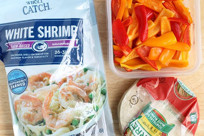 ingredients in shrimp fajitas
