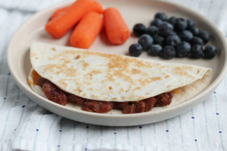Vegetarian Quesadillas with Beans and Cheese