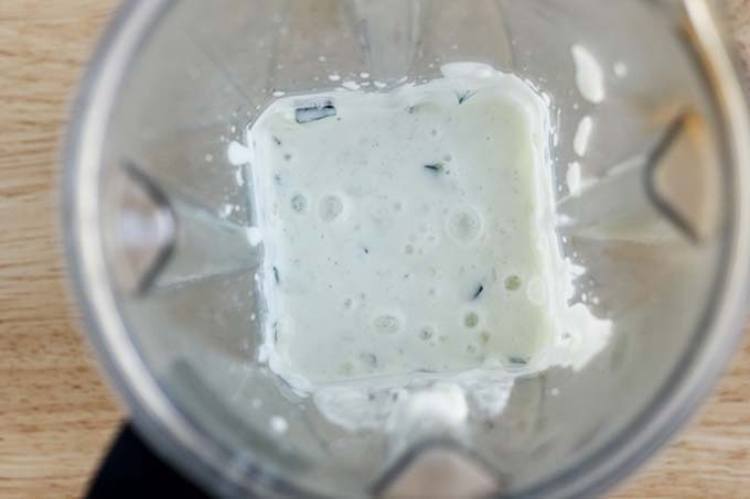 cucumber sauce in blender