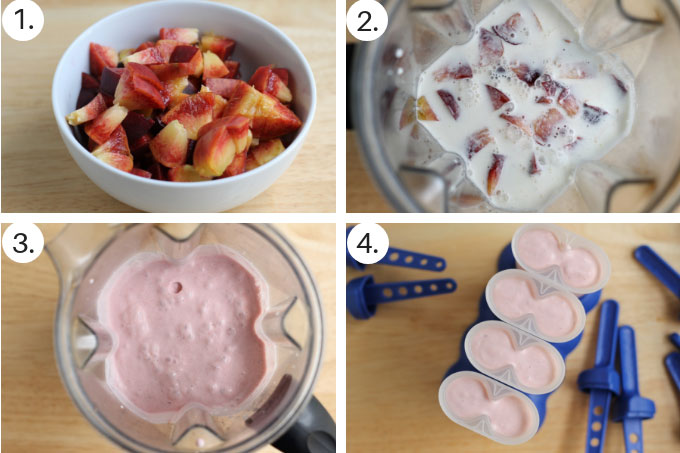 how to make peach ice cream pops step by step