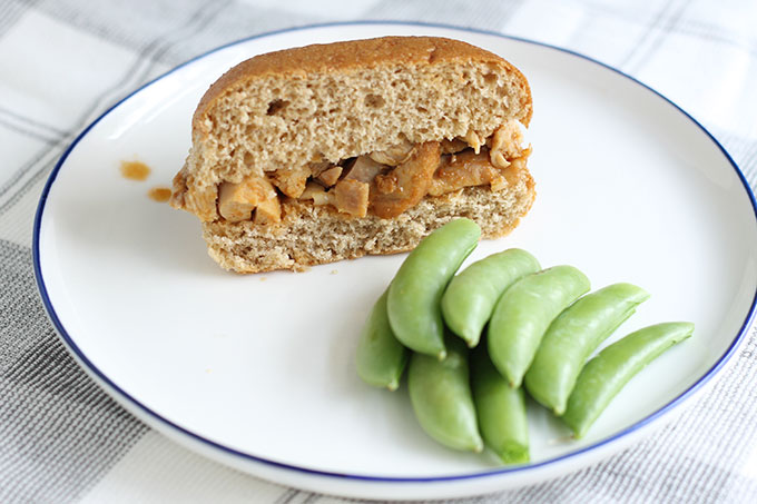 instant pot chicken sandwich with snap peas